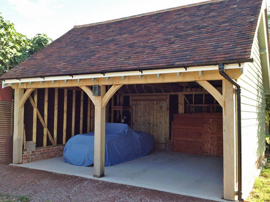 Timber Garage Construction
