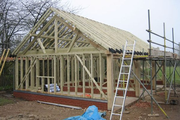 Timber Garage Construction