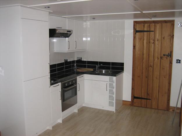 Timber Garden Room Interior Kitchen