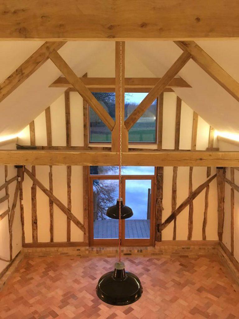 Timber Cartlodge Suffolk Beams and Rafter