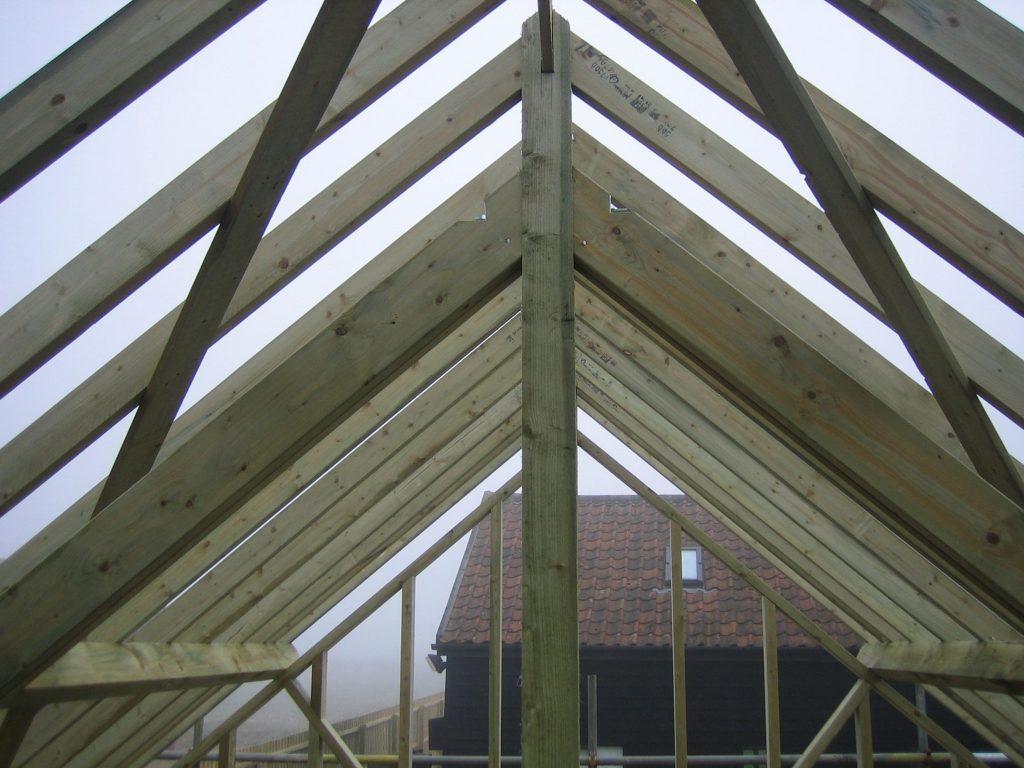 Timer Frame Building Construction