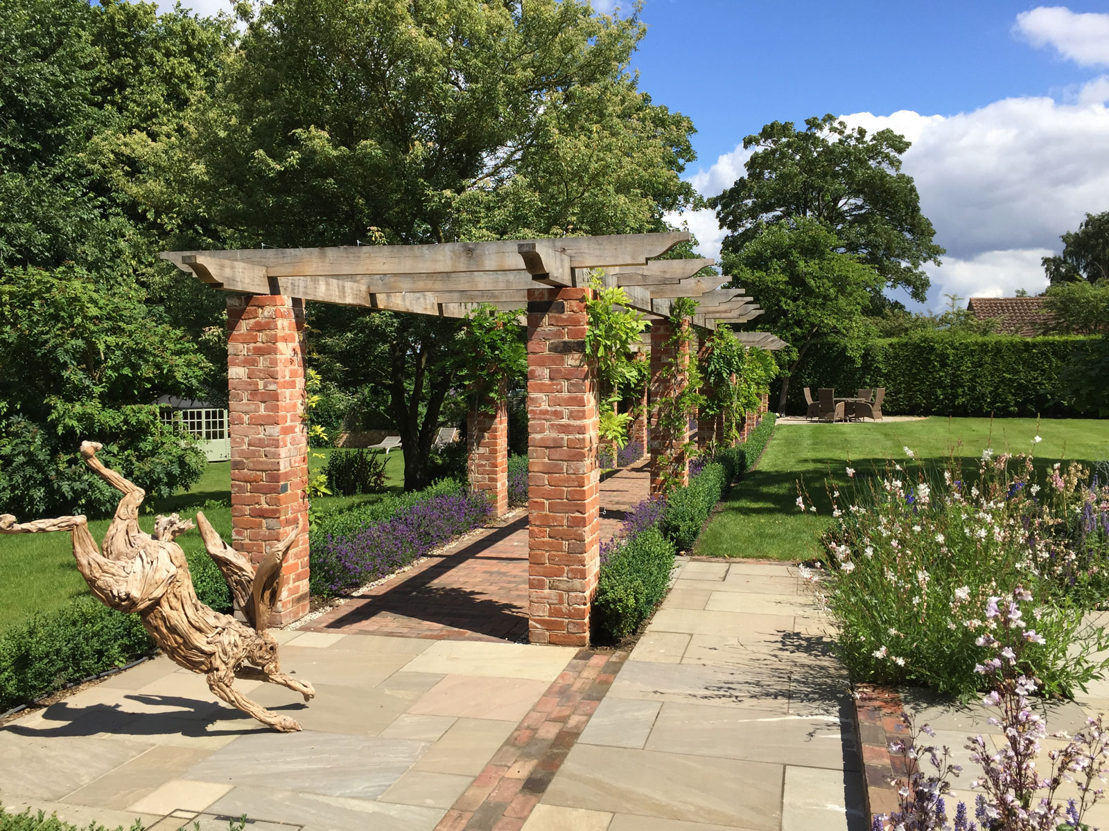 landscaping garden design award winning pergola