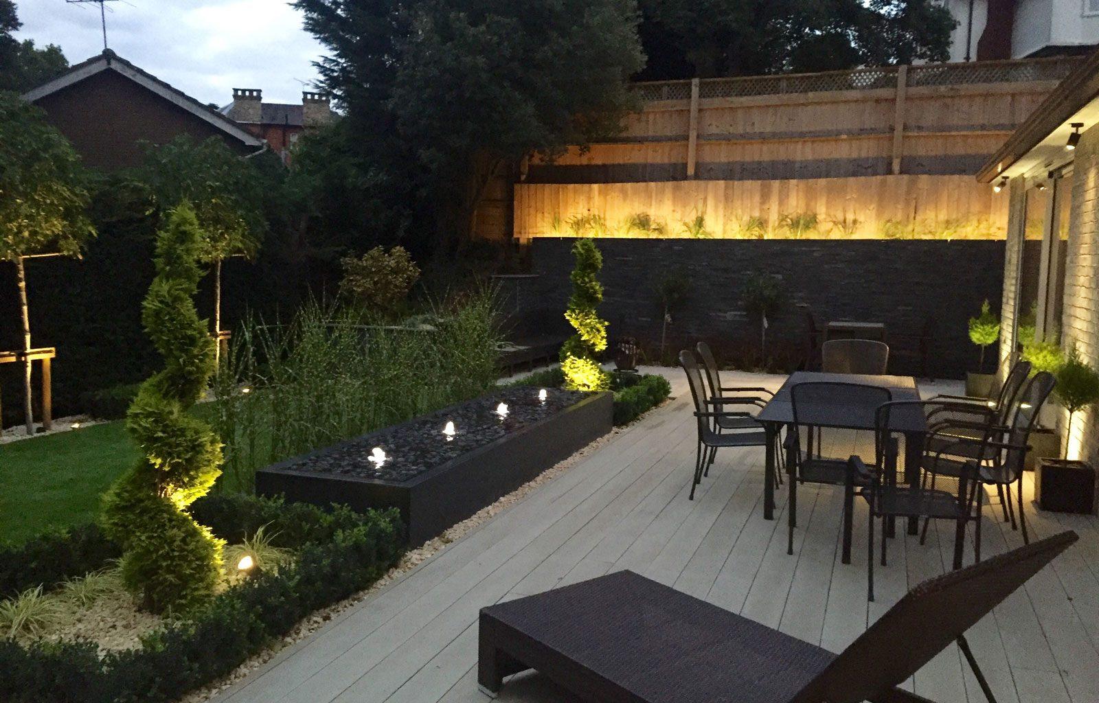 landscaping garden design contemporary garden lighting