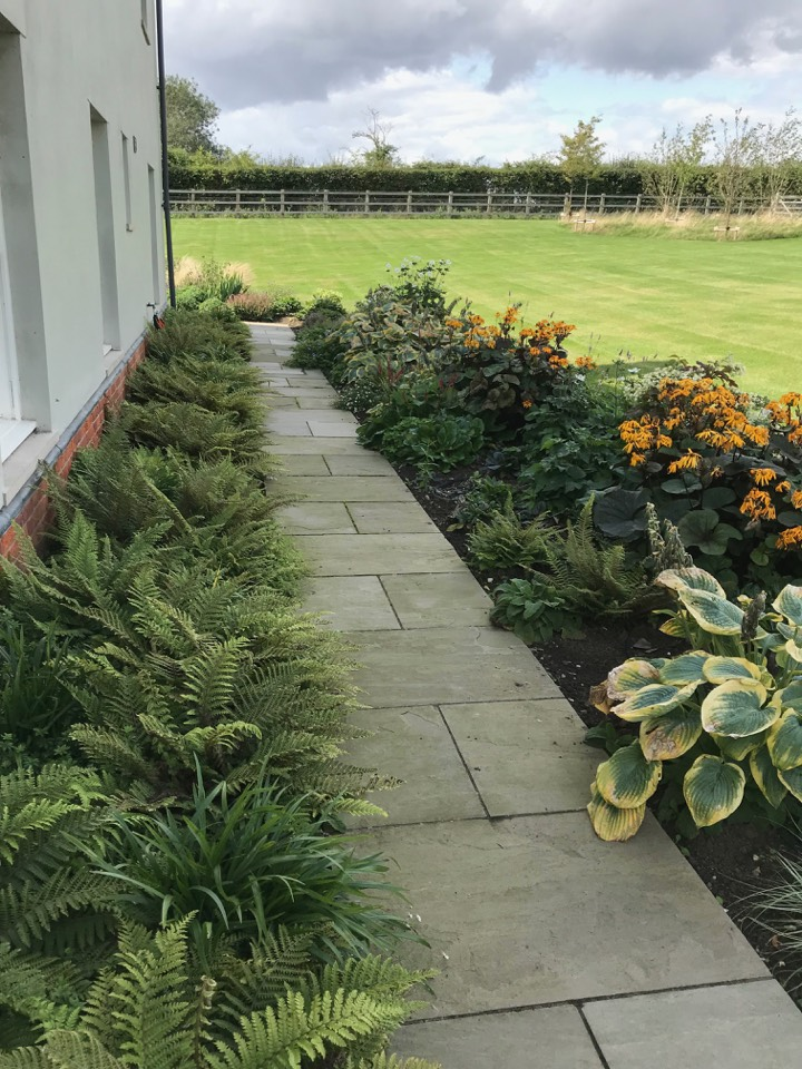 planting and soft landscaping path border